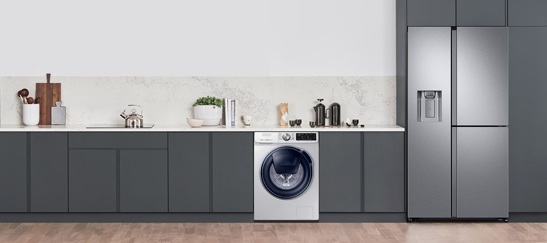 lavarropa y refrigerador